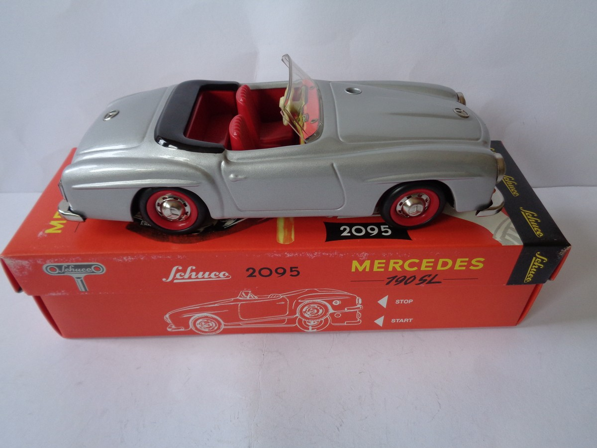 schuco mercedes benz 190sl 2095 with box wind up toy. Black Bedroom Furniture Sets. Home Design Ideas
